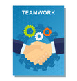 business poster teamwork vector image