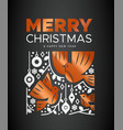 christmas new year copper nordic dove bird card vector image