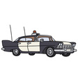 Classic big police car vector image vector image