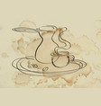 coffee serving vector image vector image