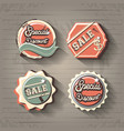 commercial labels retro style vector image vector image