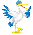 cute duck cartoon vector image vector image