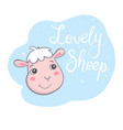 cute sheep good for holiday card flat icon vector image vector image