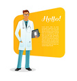 Doctor character man image vector image vector image