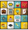 Education icons set flat style vector image vector image