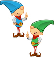 Elf Mascot Having An Idea vector image vector image
