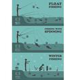 Fishing infographic Float fishing spinning winter