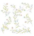 floral design elegant vector image vector image