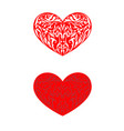 floral hearts for gift cards vector image vector image