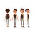 full length portrait cute boy character in vector image