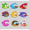 Funny birds vector image vector image