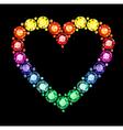 Gem Heart vector image vector image