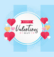 greeting cards for valentines day vector image vector image