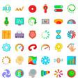 indication icons set cartoon style vector image