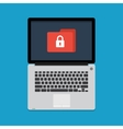 internet security concept in flat style vector image