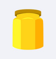 jar of yellow color closeup vector image