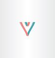 Letter v lines logo template symbol vector image