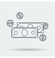 Line Art Money Icon vector image vector image