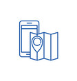 location line icon concept location flat vector image