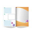 magazine mock up template empty book with areas vector image
