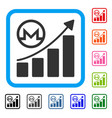 monero growing graph framed icon vector image vector image