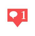notification in social media vector image