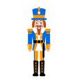 nutcracker toy isolated vector image
