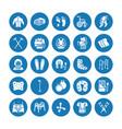 orthopedics trauma rehabilitation glyph icons vector image