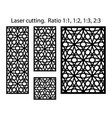 panels and screens for cnc cut laser cutting vector image vector image