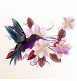 realistic humming bird vector image vector image