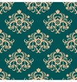 Repeat floral motifs in an arabesque pattern vector image vector image