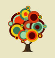 retro color shapes concept tree decoration vector image vector image
