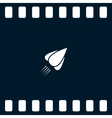 Rocket icon stock vector image