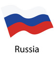 russian federation flag vector image vector image