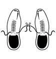 silhouette of a tied shoes joke vector image vector image