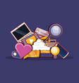 social media communication apps icons vector image