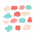 speech bubbles set various talk balloon shapes vector image