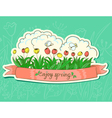 Spring sticker vector image vector image