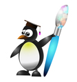 studying penguin vector image