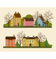 suburban residential street in flat design vector image vector image