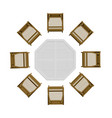 summer table with chairs view from above 3d vector image vector image