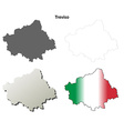 Treviso blank detailed outline map set vector image vector image