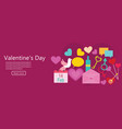 valentines day banner background vector image vector image