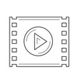 video play line icon vector image