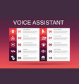 voice assistant infographic 10 option template vector image