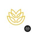 Wheat ear linear style logo vector image vector image