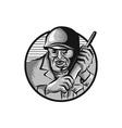 World War Two Soldier American Calling Radio vector image vector image