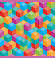 stack of colorful baby blocks seamless 3d vector image