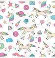 unicorn colorful seamless pattern for design and vector image