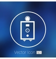 boiler gas icon water symbol household equipment vector image